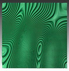 Wall panel 3D model for CNC machining by BonitumART