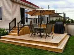39 Creative Deck Patio Design You Should Try For Your Outdoor Space Pergola Shade, Pergola Patio, Backyard Patio, Pergola Kits, Pergola Ideas, Backyard Shade, Small Backyard Decks, Corner Pergola, Patio Bar