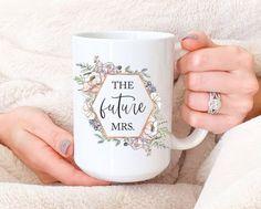 Future mrs mug Engaged mug Future Mrs. Coffee Mug bride image 1 Toasting Flutes, Champagne Flutes, Engagement Gifts For Her, Engagement Mugs, Bride Gifts, Wedding Gifts, Tumbler With Straw, Personalized Tumblers, Gifts For Engaged Friend