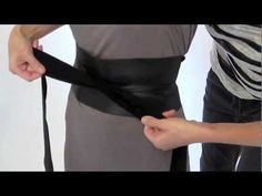 ▶ How to tie a Ms. Wood Obi Belt - YouTube