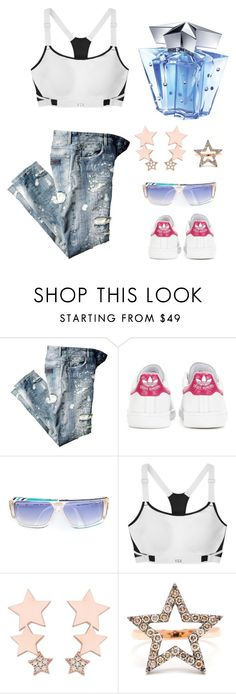 """""""Spring On The Sea"""" by abbey-ceee ❤ liked on Polyvore featuring adidas, Cazal, Victoria's Secret, Hippie Dreamers, Rosa de la Cruz and Thierry Mugler"""