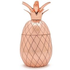 W&p Design Pineapple Tumbler ($21) ❤ liked on Polyvore featuring home, kitchen & dining, drinkware, copper, copper drinkware, pineapple tumbler, copper tumbler, copper pineapple tumbler and pineapple drink holder