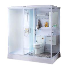 Diy home decor for apartments renting bathroom toilets 52 ideas Shower Pods, Diy Shower, Diy Storage, Locker Storage, Diy Home Decor For Apartments Renting, Bathroom Toilets, Attic Bathroom, Bedroom Closet Doors, Diy Kids Furniture