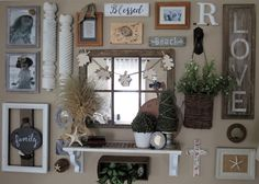 gallery wall for fall with still with a beach flair