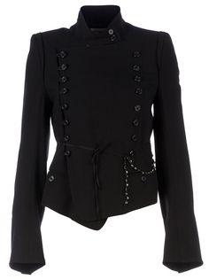 ANN DEMEULEMEESTER BLANCHE - asymmetric military jacket