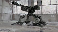 Mechanized robotic turret made in 3DS Max and V-Ray.