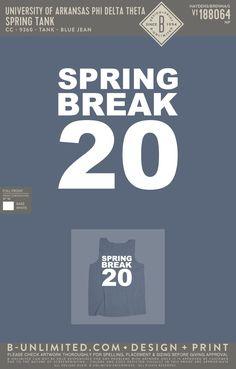 Phi Delta Theta Spring Break Tank | Fraternity Event | Greek Event #phideltatheta #phidelt Phi Delta Theta, University Of Arkansas, White Springs, Spring Break, Tanks, Design, Shelled, Military Tank
