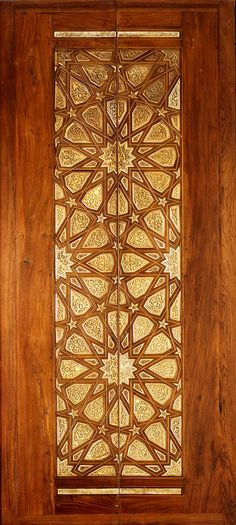 Pair of doors. Mamluk Egypt (Cairo) - wood inlaid with carved ivory panels Cool Doors, Unique Doors, Islamic Architecture, Art And Architecture, Islamic Patterns, Geometric Patterns, Islamic Designs, Arabesque, Islamic Art
