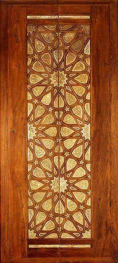 Islamic geometric pattern on doors
