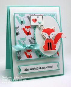 This is a daring card using the Foxy Friends suite. Stampin' Up!