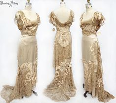 1911 Evening Dress http://wearinghistoryblog.com/2015/03/extant-garment-circa-1911-evening-dress/