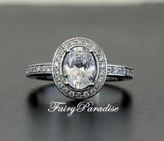 Art Deco 1.25 Ct Oval Cut 8mm  6mm lab made by FairyParadise