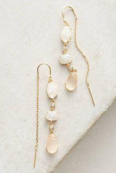 Caterpillar Stone Threader Earrings