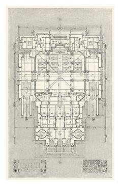 Grundriss der Unterkirche. Otto Wagner.