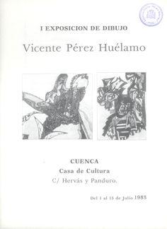 Exposición de dibujos de Vicente Pérez Huélamo en la Casa de Cultura de Cuenca Julio 1983 #CasaCulturaCuenca #VicentePerezHuelamo