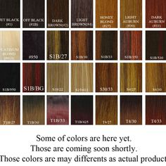 Weave Hair Color Chart Sovinsl | Weave | Pinterest | Weave hair ...