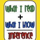 This is a freebie from our Inference Island packet.  It is a great way to help your kiddos have a visual of what makes an inference!...
