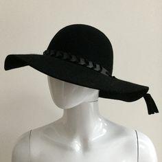 Zara Wide-Brimmed Wool Hat With Braided Leather Detail Braided Leather, Braids, Zara, Wool, Detail, Accessories, Fashion, Bang Braids, Moda