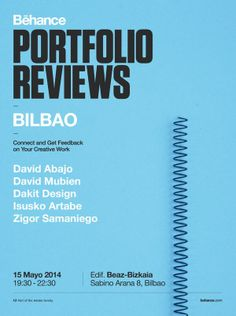 May 15: get ready for Bilbao's portfolio review