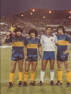 Trofeo R. Zaragoza contra el Boca de Maradona