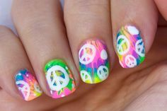 Reto ABC uñas H de HIPPIE / ABC nail challenge H for HIPPIE
