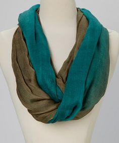 Another great find on #zulily! Teal Ombré Infinity Scarf by Chic #zulilyfinds