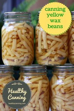 Canning yellow wax beans. If you don't like tinned yellow wax beans from the store, you're not alone. But yellow wax beans (aka yellow snap beans) can up beautifully at home. #canning