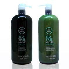 Amazon.com: Paul Mitchell Tea Tree Shampoo & Condi ($51.53) girls ask me all the time about my long hair and how I get it. Horse shampoo does not work. Idk why girls use it. From experience any kind of peppermint shampoo and cond. will stimulate the scalp and make it grow faster. Clean scalp leads to healthy hair