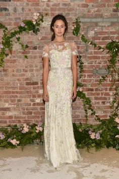Elegância para o outono by #JennyPackham. Bridal collection. Bridal Fashion Week. #NYC