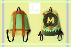 Matilde/turtle/handmade in Italy/for child/one piece/home fabrics/eco-leather,