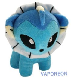 "VAPOREON Water-type Pokemon Plush Toy Stuffed Animal 6"""