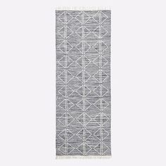 Reversible and easy-to-care for, our handwoven Reflected Diamonds Indoor/Outdoor Rug offers durability with a softer-than-wool feel. Its linework design adds modern pattern anywhere from playroom to entry to patio. • 100% recycled polyester in…