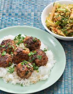 In this recipe, we're serving up succulent chicken meatballs flavored with some of our favorite Southeast Asian ingredients: aromatic garlic chives, black bean sauce, ginger and more.
