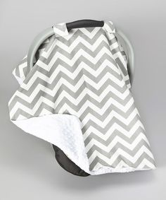 Loving this White & Gray Chevron Car Seat Canopy on #zulily! #zulilyfinds