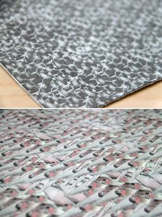 Flock of birds printing on leather by Pineapple Studio. #patterndesign #surfacedesign