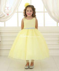 Yellow Tulle Jeweled Waistband Skirt-CA457D212YLW - Mini Me Dress