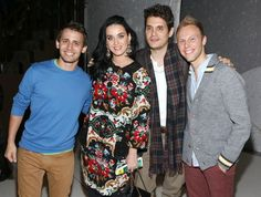 Katy Perry and friends take in a Broadway show.