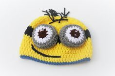 Minion Crochet Hat/Despicable Me by CraftCreationsbyRose on Etsy