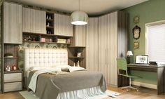 Modelos-guarda-roupas-quarto-pequeno-casal Glam Room, Two Bedroom, Bedroom Wall, Modern Bedroom, Bedroom Decor, Room Closet, Closet Doors, Small Bedroom Designs, Small Room Design