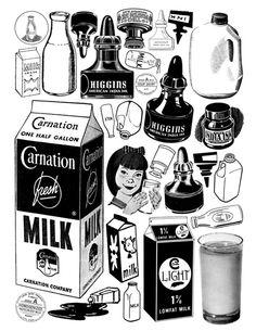 Inky milk.