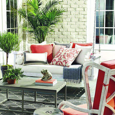 Your porch is the perfect place to enjoy the outdoors during the summer, and you can help make it an inviting area with the right summer porch decor ideas. As an extension of your home, your porch should not only… Continue Reading → Summer Porch Decor, Diy Porch, Front Porch Seating, Outdoor Coffee Tables, Outdoor Benches, Outdoor Spaces, Patio Swing, Primitive Homes, Outdoor Furniture Sets
