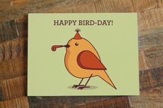 Shop the latest Funny Happy Birthday Puns products from ModDessert on Etsy, Tiny Bee Cards, SunnyDoveStudio on Etsy and more on Wanelo, the world's biggest shopping mall. Birthday Puns, Birthday Cards For Her, Art Birthday, Funny Birthday Cards, Birthday Greeting Cards, Birthday Greetings, Summer Birthday, Happy Birthday Birds, Happy Bird Day