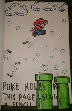 """I've seen a lot of """"poke the page"""" things in Wreck it Journals. Doughnuts, balloons, bubbles. I might do it too."""