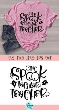 Halloween Vinyl, Halloween Shirt, Funny Halloween, Halloween Costumes, School Shirts, Teacher Shirts, Teacher Outfits, Work Shirts, Teacher Stuff