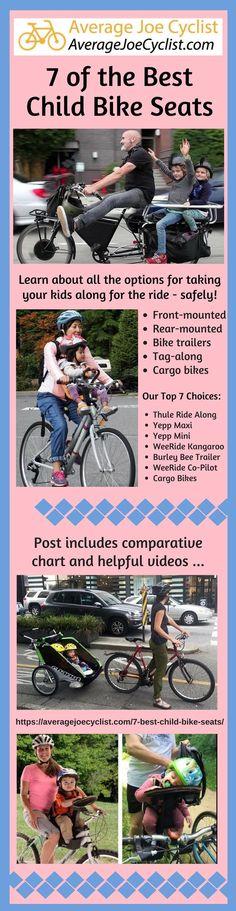 7 of the Best & Safest Baby & Child Bike Seats, 2019 – Revie… – Baby Utensils Ideas Cycling Tips, Cycling Workout, Women's Cycling, Child Bike Seat, Old Bicycle, Commuter Bike, Cargo Bike, Bicycle Maintenance, Kids Bike