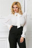 bluze-dama-ieftine-online-6 Ruffle Blouse, Tops, Women, Style, Fashion, Swag, Moda, Fashion Styles, Fashion Illustrations
