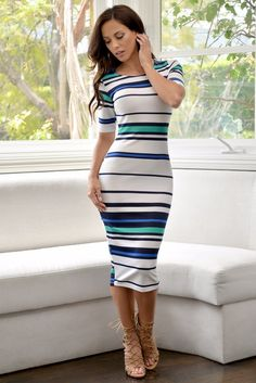 Isabel Stripped Dress – Fashion Effect Store
