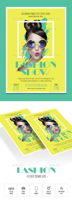 Fashion Flyer — Photoshop PSD #fashion show #events • Available here ➝ https://graphicriver.net/item/fashion-flyer/20828232?ref=pxcr