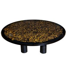 Tiger's Eye Table by Etienne Allemeersch, circa 1970 | From a unique collection of antique and modern tables at https://www.1stdibs.com/furniture/tables/tables/
