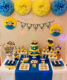 Minion Despicable Me birthday party! See more party planning ideas at !Amazing Minion Despicable Me birthday party! See more party planning ideas at ! Minions Birthday Theme, Minion Party Theme, Despicable Me Party, 3rd Birthday Parties, Boy Birthday, Minion Birthday Invitations, Birthday Table, Birthday Ideas, Minion Party Decorations